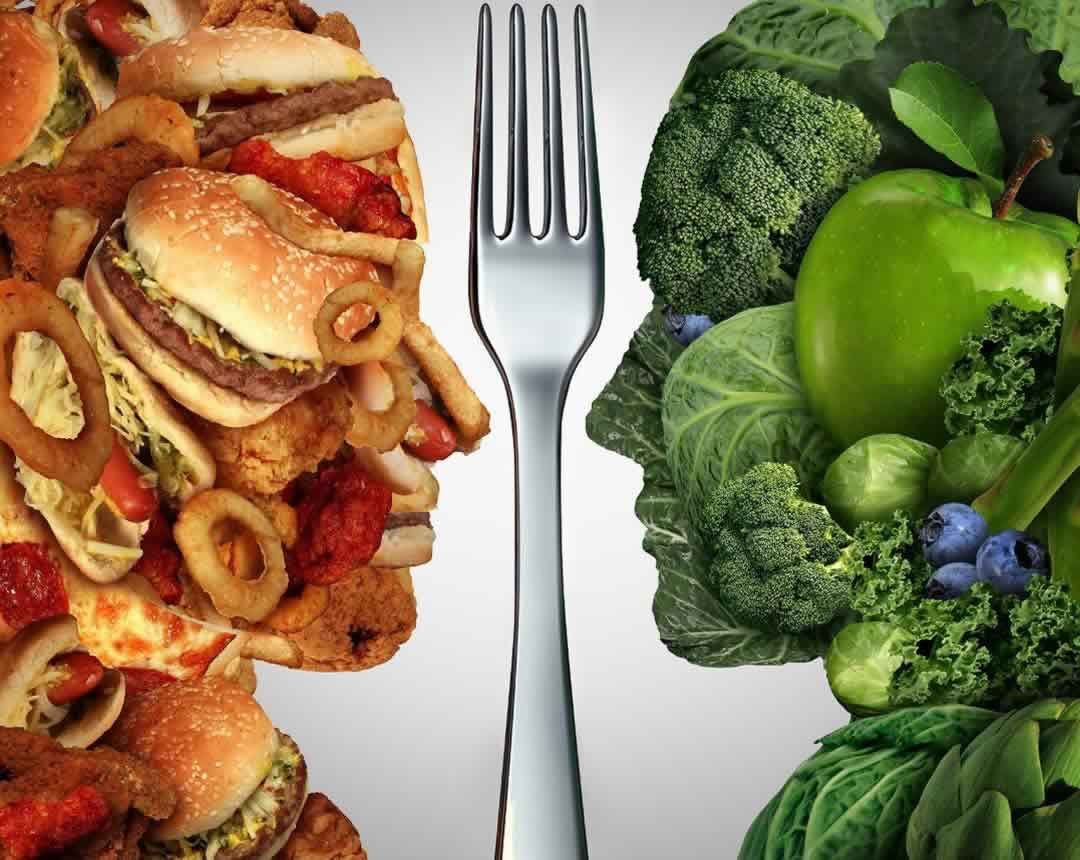 healthy nutrition coaching - v unhealthy nutrition options